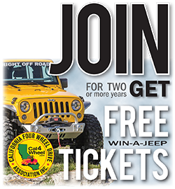 Join or renew for two or more years and get free Win-A-Jeep tickets
