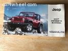 2007 Jeep Wrangler Owner's Mnual