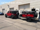 2017 Jeep Wrangler and Offroad camping trailer
