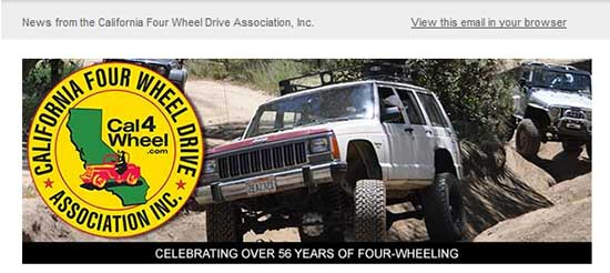 Cal4Wheel email campaign