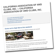 Stay abreast of the latest news with Cal4wheel email campaigns