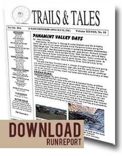 Read report on Panamint Valley Days 2014 by the Gear Grinders