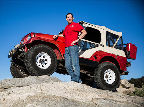 Peter Seck and his 1967 Jeep CJ-5. Photo courtesy Wall Street Journal.
