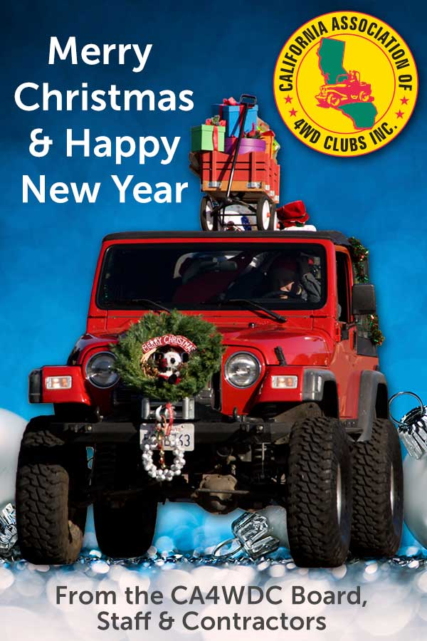 Happy holidays from the California Association of 4WD Clubs