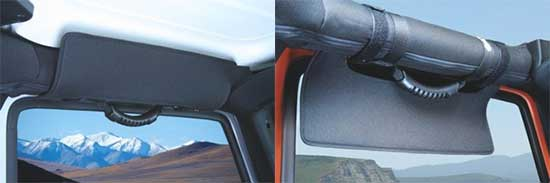 eklips(TM) Jeep Wrangler side visors