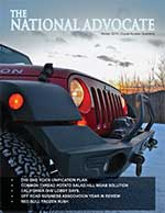 Cover of National Advocate inaugural issue