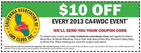 Join or renew your membership and get $10 off 2013 events