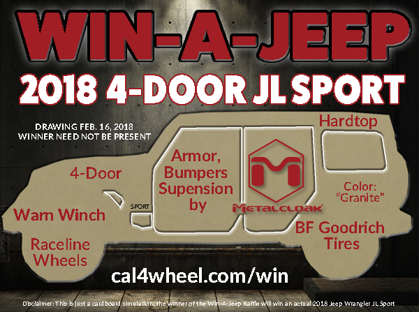 Order your tickets for a chance to win a 2018 Jeep Wrangler JL