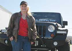 Wilma Vick-McDaniel with her new Jeep