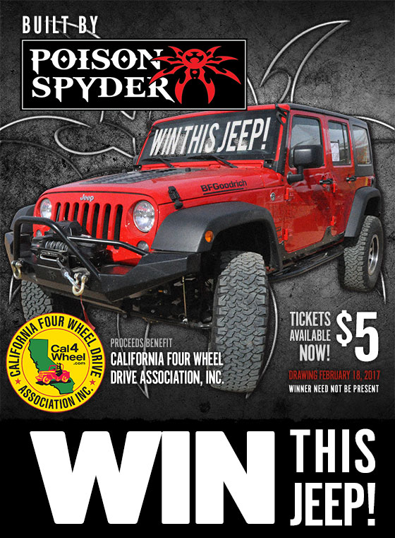 Win this brand new Jeep built by Poison Spyder!